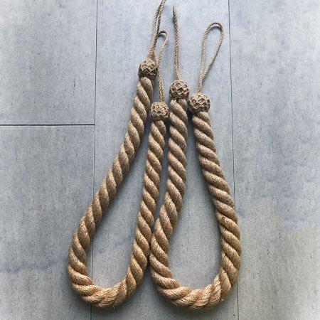 カーテンロープ(亜麻色)2本組