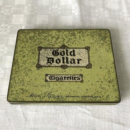 TIN缶 Gold Dollarシガレット薄型缶箱