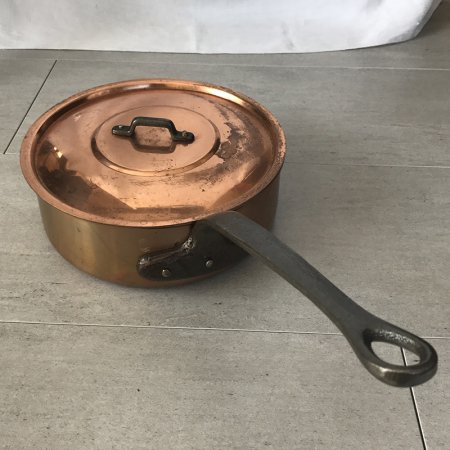浅型パン 銅鍋蓋付き