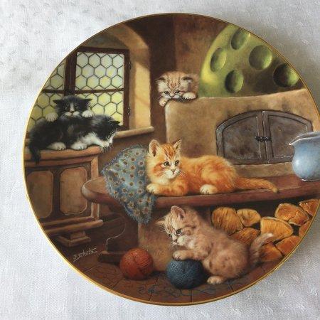 子猫の飾り皿《かまど》