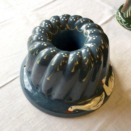 レトロな ガチョウのクグロフ型(陶器)