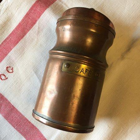 銅のコーヒー豆入れ キャニスター