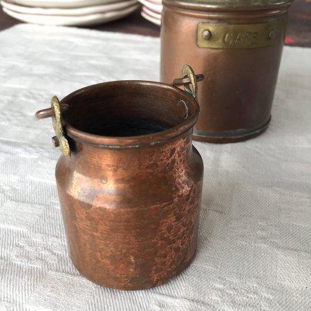 銅の取っ手付きジャグ・ポット