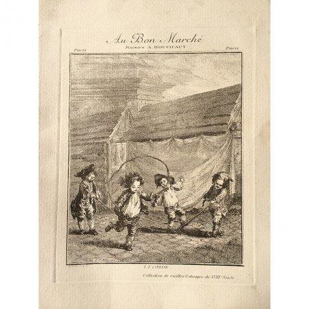 アンティーク広告Bon Marché(ボンマルシェ)リトグラフ