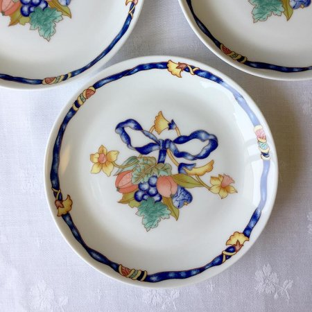 青いリボン ボーケーズの小皿/Limoges