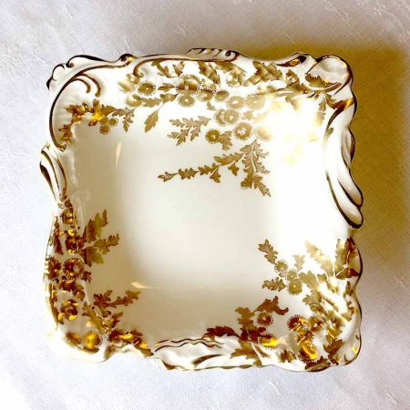 金彩の菊 スクエア小皿/ハマーズレイ