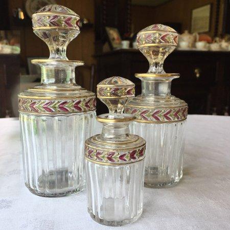大中小 ローリエ金彩が華やかな 香水瓶セット
