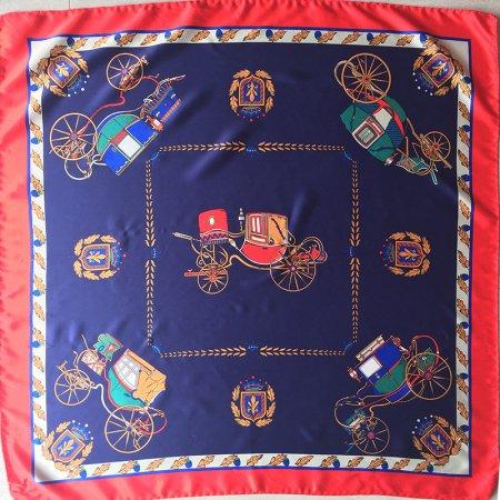 スカーフ 馬車と紋章