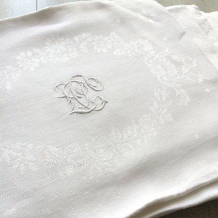 ダマスク織フレンチリネン 大判テーブルナプキン