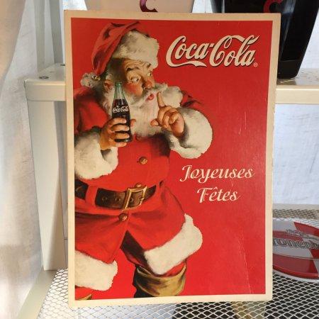 コカ・コーラ サンタクロースのカード広告