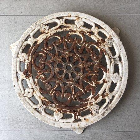 フランスアンティーク 鉄製の鍋敷き