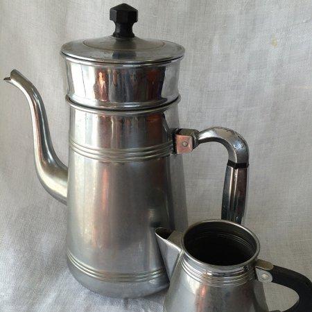 コーヒーポット ミルクピッチャー セット   パーコレーター