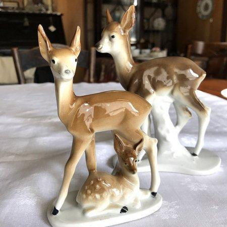 陶器置物 フィギュリン  鹿の母子 Graefenthal