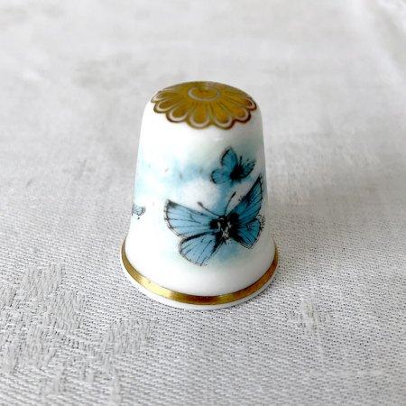 シンブル Spode(青い蝶)