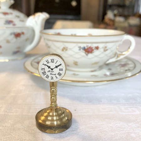 真鍮ミニチュア 時計 高さ5cm