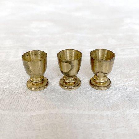 真鍮ミニチュア ゴブレット3杯 1.5cm