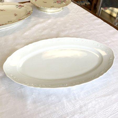 リモージュ 白磁の大皿 オーバルプレート