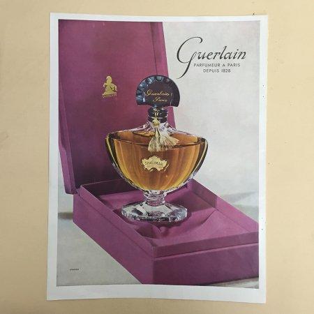 フランス  ヴィンテージ 雑誌広告  Guerlain  ゲラン 両面