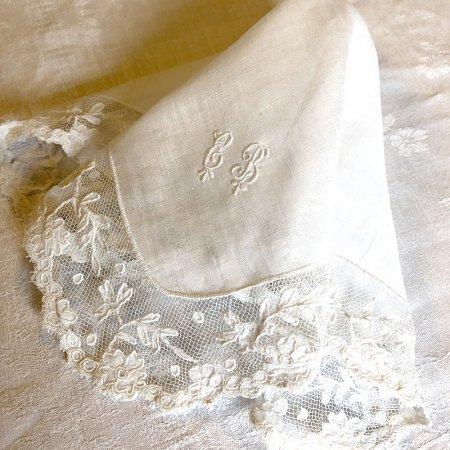 カクテルナプキン テーブルナプキン ロマンチックな花刺繍EB