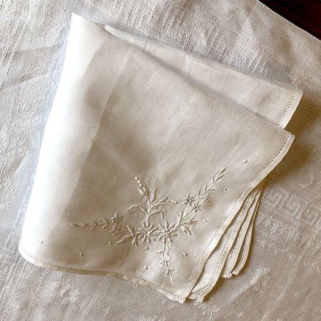 カクテルナプキン テーブルナプキン コーナー花刺繍