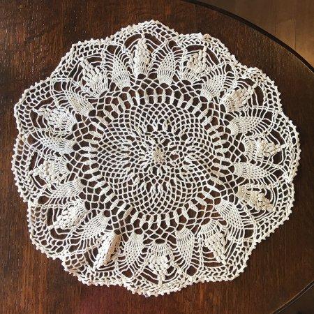 ドイリー 手編み丸型