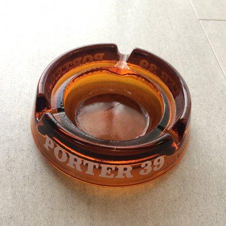ヴィンテージガラス灰皿 クリアアンバー(PORTER 39)