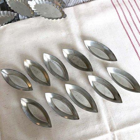 ブリキのお菓子焼型 5個セット(舟型)