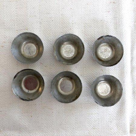 ブリキのお菓子焼型 6個セット(丸型)
