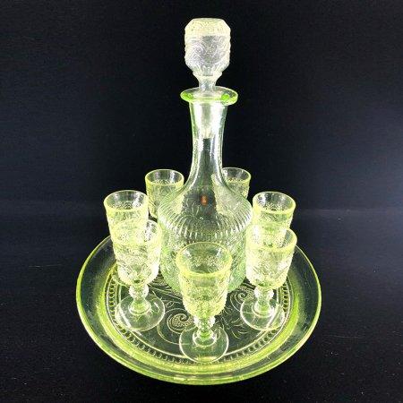 ウランガラスのリキュールグラスセット