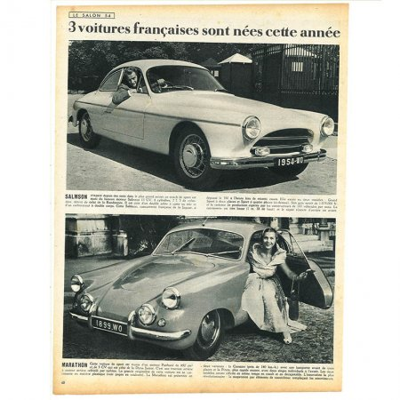 ヴィンテージフランス雑誌 1953年 1色車2P