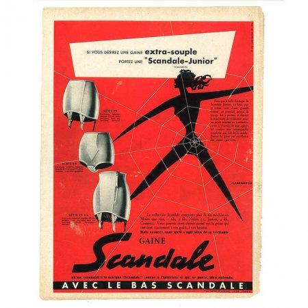 ヴィンテージフランス雑誌 1953年 2色GAINE2P