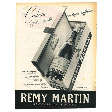ヴィンテージフランス雑誌 1953年 2色REMY MARTIN, Waterman2P