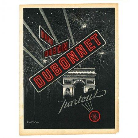 ヴィンテージフランス雑誌 1953年 2色DOUBONNET2P
