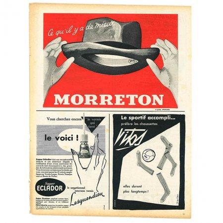 ヴィンテージフランス雑誌 1953年 2色MORRETON2P