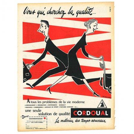 ヴィンテージフランス雑誌 1953年 2色CORDOUAL2P