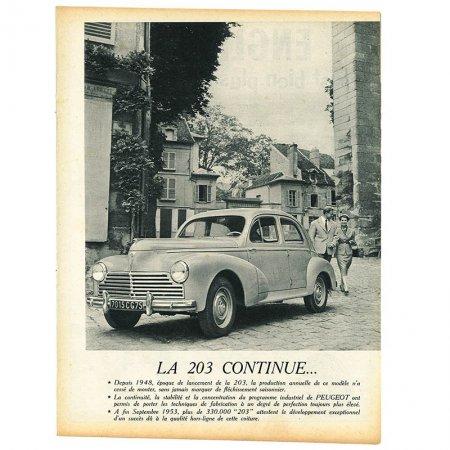 ヴィンテージフランス雑誌 1953年 1色PEUGEOT, FORD 4P