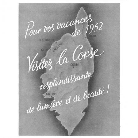 ヴィンテージフランス雑誌 1952年1月 1色コルシカ島4P