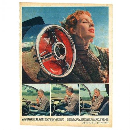 ヴィンテージフランス雑誌 1953年 カラー車2P