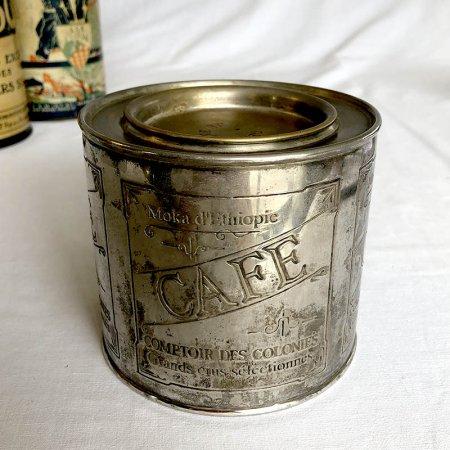 *シルバープレート コーヒー缶 筒型