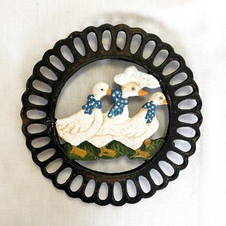 アイアン鍋敷き あひる トリベット フランス雑貨