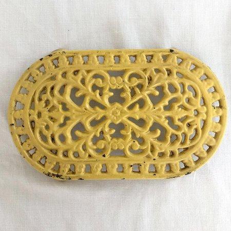 アイアン鍋敷き 黄色 トリベット フランス雑貨