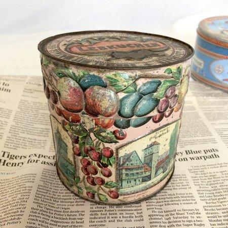 アンティーク缶 TIN缶フルーツエンボス ドイツ菓子