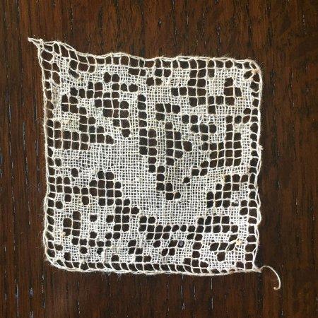 クロッシェレース  手編みレースのコースター  モチーフ