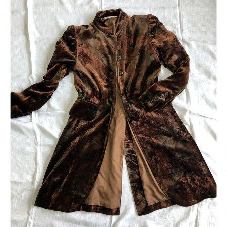 ヴィンテージファッション ワンピース ベッチン ジャケット風 飾りボタン