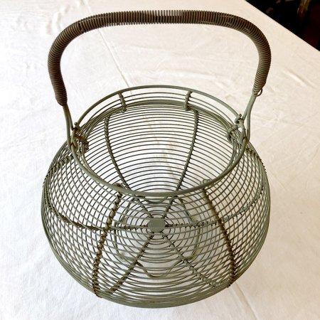 卵入れ  野菜水切りかご ワイヤーバスケット フランスキッチンツール ブロカント