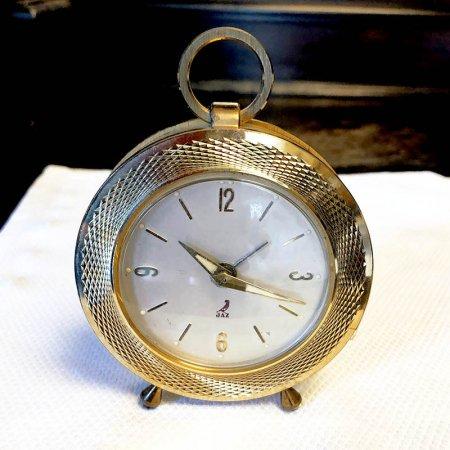 ヴィンテージ 目覚まし時計 手巻き フランス JAZ  置き時計