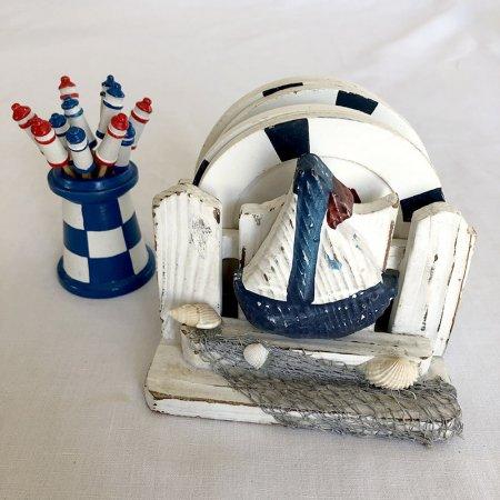 海辺のコースター・ピックセット フランス ブロカント