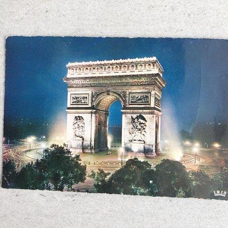 ポストカード パリ ライトアップ凱旋門