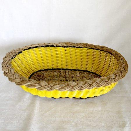 ヴィンテージ 黄色いバスケット パンの盛り付けに