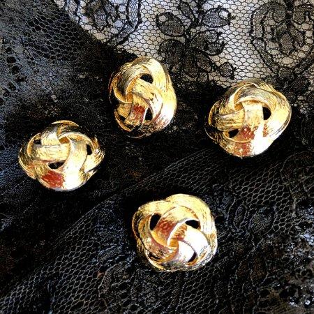ボタン 組紐ゴールド 15×15 バラ売り